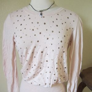 Banana Republic M peach with bronze studs sweater